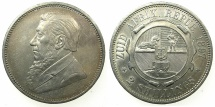 World Coins - SOUTH AFRICA.Paul Kruger.AR.2 shillings 1897.