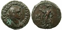 Ancient Coins - EGYPT.ALEXANDRIA.Diocletian AD 284-305.Billon Tetradrachm, struck AD 284/85.~#~.Elpis standing.