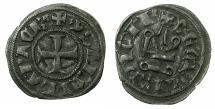 World Coins - CRUSADER.Principality of ACHAIA.Isabella of Villehardouin AD 1289-1297. Bi.Denier.Type Y4.~~~letter B end of obverse legend. RARE Type.