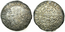 Ancient Coins - RHODES.Knights of Saint John. Robert de Juilly AD 1324-1377.AR.Gigliato.