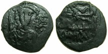 Ancient Coins - SELJUKS OF RUM.Kaykhasraw I, 1st reign 588-592H ( AD 1192-1196 ).AE.Fals.~~~Byzantine Imperial bust.