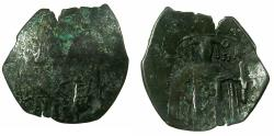 Ancient Coins - BYZANTINE EMPIRE.Michael VIII AD 1259-1282.AE.Trachy.Class XXIV. Mint of CONSTANTINOPLE. Saint George.
