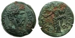 Ancient Coins - EGYPT.ALEXANDRIA.Aelius Caesar 136-138 AD.AE.Diobol, Consul II struck 137 AD.~#~>Homonia standing.