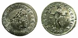 Ancient Coins - ROMAN.Constantine I The Great AD 306-337.AE.Follis. Mint of TRIER. Sol.