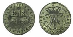World Coins - ITALY.SAVOY.Carlo Emmanuel IV AD1796-1802.Billon.20 Soldi 1797.