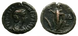 Ancient Coins - EGYPT.ALEXANDRIA.Cornelia Salonina, wife of Gallienus AD 253-268.Billon Tetradrachm, struck AD 266/67.~#~.Elpis standing.