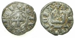 World Coins - CRUSADER STATES.Principality of ACHAIA.Philip of Taranto AD 1307-1313.Bi.Denier.Type 2. Retrograde S in legend.