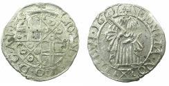 World Coins - GERMANY.TRIER.Archdiocese. Johann Hugo von Orsbeck AD 1676-1711.AR.Petermenger ( 1 Albus ) 1681.Arabic numerials.