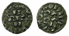 World Coins - ITALY.PAVIA.Enrico III di Fraconia Imperatore e Re D'Italia AD 1056-1106.Billon Denaro.