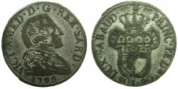 World Coins - ITALY.SAVOY.Vittorio Amadeo III AD 1773-1796.Billon 20 Soldi 1796.