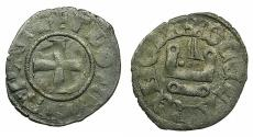 World Coins - CRUSADER.Principality of ACHAIA.Florent of Hainault AD 1289-1297. Bi.Denier.Type F5. ***Very rare type ***