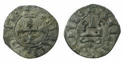 World Coins - CRUSADER.Despotate of EPIRUS.Philip of Tarento AD 1294-1313.Bi.Denier. Var.with Despot of Romania in title.