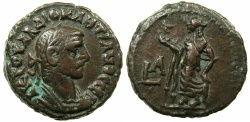Ancient Coins - EGYPT.ALEXANDRIA.Diocletian AD 284-305.Billon Tetradrachm, struck AD 284/85.~#~.Elpis standing.