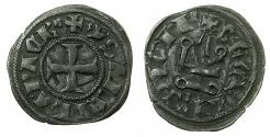 World Coins - CRUSADER.Principality of ACHAIA.Isabella of Villehardouin AD 1289-1297. Bi.Denier.Type Y4.~~~letter B end of obverse legend. RARE Type.