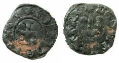 World Coins - CRUSADER STATES.GREECE.EPIRUS.John II Orsini 1323-1335.AE.Denier.Struck at ARTA.