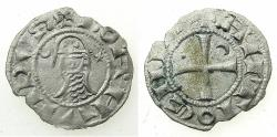 World Coins - CRUSADER STATES.Principality of ANTIOCH. Bohemond III or IV c.1149-1233 Bi.Denier. Class F.
