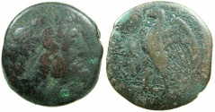 Ancient Coins - PTOLEMAIC EMPIRE.PHOENICIA:TYRE.Ptolemy II Philadelphos 285-246 BC.AE.36mm. *** Rare issue with club and cornucopiae before eagle.