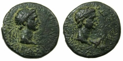 Ancient Coins - THRACE, kingdom. Rhoemetalces circa 11BC-AD 12.AE.20.4mm.~#~.Rhoemetalces .~/~.Augustus.