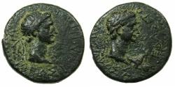 Ancient Coins - THRACE, kingdom. Rhoemetalces circa 11BC-AD 12.AE.20.4mm.~#~.Rhoemetalces .~/~.Augustus.