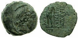 Ancient Coins - SYRIA.SELEUCID EMPIRE.Demetrius II 2nd reign circa 130-125 BC.AE.18mm.Mint of ANTIOCH struck 129/8 BC.