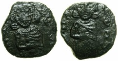 Ancient Coins - BYZANTINE EMPIRE.SICILY.Constantine V Copronymus AD 741-775 with associate Leo IV Augustus from AD 751.AE.Follis.Mint of SYRACUSE.