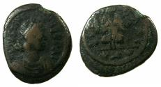 Ancient Coins - BYZANTINE EMPIRE.Justinian I AD 527-565.AE.Deccanummium.Mint of CARTHAGE.