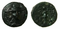 Ancient Coins - SELEUCID EMPIRE.Antiochus I 280-261 BC.AE.13.5mm. Facing head of Athena. Uncertain mint in Western Asia Minor.
