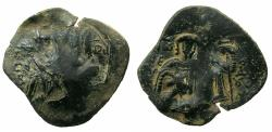 Ancient Coins - BYZANTINE.Empire of NICAEA.John III Ducas Vatatzes AD 1228-1254.AE.Trachy. CLASS Q. Mint of MAGNESIA.