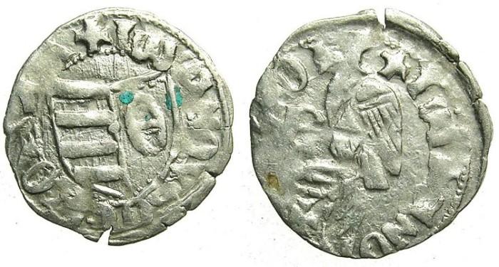Ancient Coins - ROMANIA.VOIVODES OF WALLACHIA.Dan I 1383-1386.Bi.Denier.