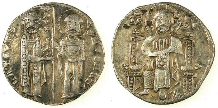 Ancient Coins - ITALY.VENICE.Lorenzo Tiepolo AD 1268-1275.AR.Grosso.