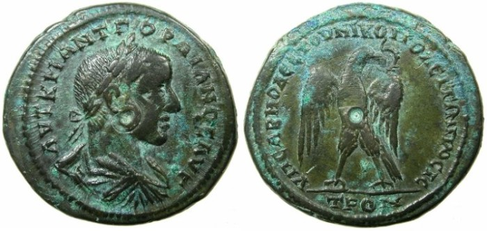 Ancient Coins - MOESIA INFERIOR.NIKOPOLIS AD ISTRUM.Gordian III AD 238-244.AE.30mm.~#~ Eagle on thunderbolt