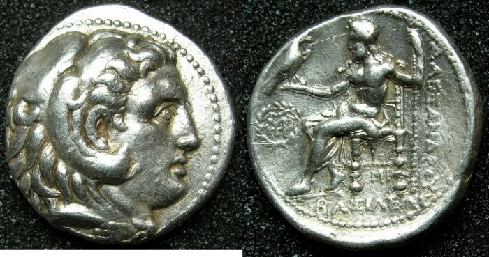 Ancient Coins - MACEDONIAN EMPIRE.Alexander III The Great 336-323 BC.AR.Tetradrachm.Posthumus issue struck c.311-c.305 BC.Mint of Babylon.