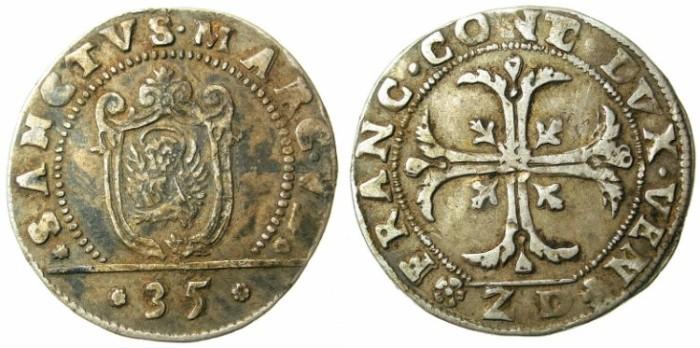 Ancient Coins - ITALY.VENICE.Francesco Contarini 1623-1624.AR.Quarto di Scudo.