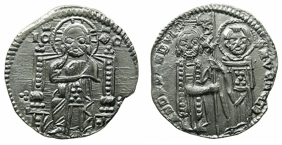 World Coins - VENICE.Andrea Dandolo AD 1342-1354.AR.Grosso.