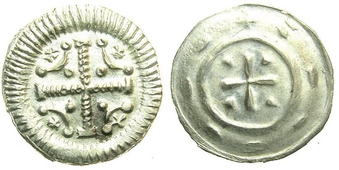Ancient Coins - HUNGARY.Anonymous issue..AR.Dinar.12th Cent AD.