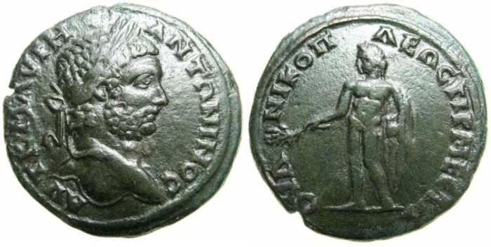 Ancient Coins - THRACE.NIKOPOLIS AD MESTRUM.Caracalla AD 198-217.AE.30.4mm.~#~.Bonus Eventus.