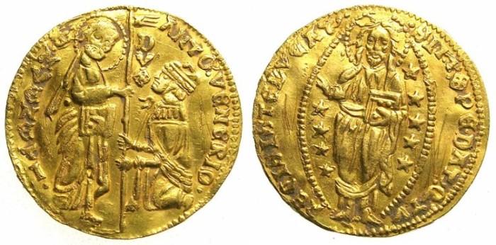 Ancient Coins - ITALY.VENICE.Antonio Venier AD 1382-1400.AV.Ducat