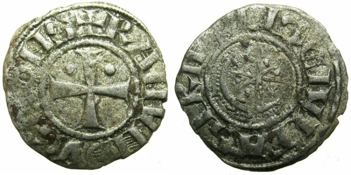 Ancient Coins - CRUSADER STATES.County of TRIPOLI.Raymond II AD 1137-1187.Bi.Denier.Type 2.