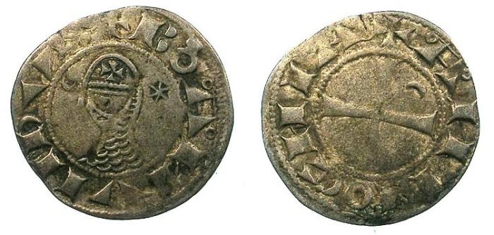 Ancient Coins - CRUSADER.Antioch. Bohemond III or IV c.1149-1233 Bi.Denier.Class C.