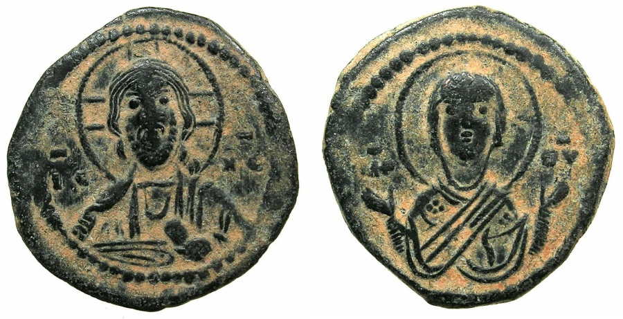 Ancient Coins - BYZANTINE EMPIRE.Anonymous Follis Class G. ( Romanus IV Diogenes AD 1068-1071 ). Mint of CONSTANTINOPLE