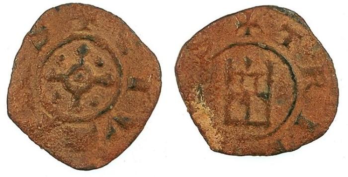 Ancient Coins - CRUSADER.TRIPOLI.Bohemond IV,V or VI c. 1187-1275.AE.Type 6