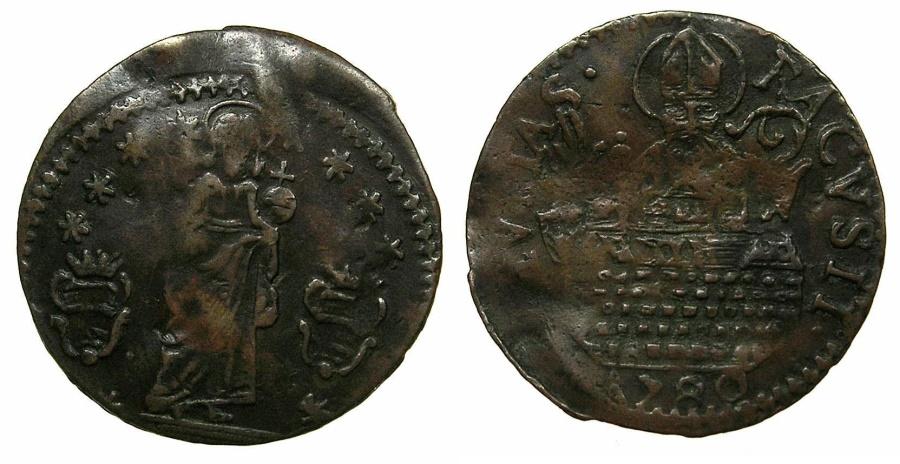 World Coins - DALMATIA.RAGUSA.AE.Soldo 1780.