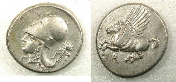 Ancient Coins - Corinthia Corinth AR Stater circa 345-307BC Flying Pegasus