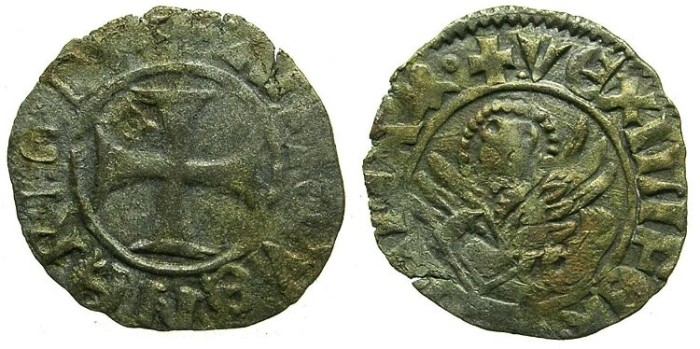 Ancient Coins - CRUSADER.GREECE under VENICE.Antonio Venier AD 1382-1400..Bi.Tornesello