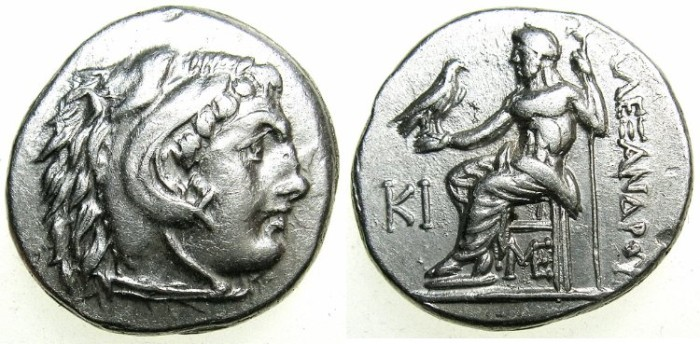 Ancient Coins - MACEDONIAN EMPIRE.Alexander III The Great 336-323 BC. AR.Drachma.Posthumus issue struck circa 310-301 BC.Mint of LAMPSACUS