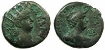 Ancient Coins - EGYPT.ALEXANDRIA.Nero AD 54-68.Billon Tetradrachm, struck AD 65/66 .~#~.Bust of Alexandria.