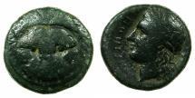 Ancient Coins - BRUTTIUM.RHEGIUM.Circa 350-270 BC.AE.20mm. Lion mask