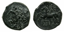 Ancient Coins - APULIA.ARPI.circa 3rd cent BC.AE~#~.Horse prancing left.