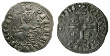 World Coins - CRUSADER.CYPRUS.Peter I AD 1359-1369.AR.Lightweight gross. 2nd Type with French legends.
