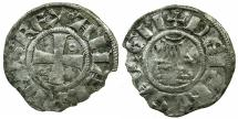 World Coins - CRUSADER STATES.Kingdom of Jerusalem.Amaury AD 1163-1174.Bi.Denier.Type 6a.